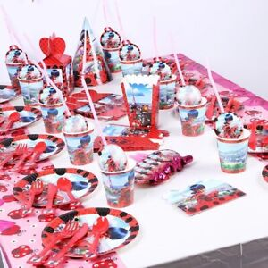 130 pcs Miraculous Ladibug Party Supplies