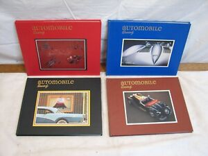 Set 4 Issues Automobile Quarterly Set Book Vol 26 1-4 1988 Auto Cars