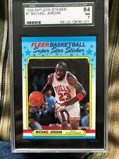 Michael Jordan 1988-89 Fleer Sticker #7 SGC 84 NM 7