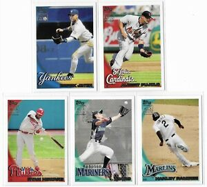 2010 Topps Limited Edition Set Of 5 Ichiro Derek Jeter Albert Pujols
