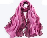 New Colorful Long Soft Women Fashion Chiffon Scarf Wrap Shawl Stole Scarves