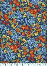 Flower Show Shop Hop 2011 Blue Quilt Fabric - Free Shipping - 1 Yard