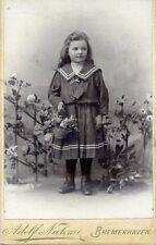 Altes CDV Foto Kind Mädchen Photographie Adolf Nahme Bremerhaven
