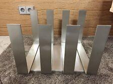Fink Revelstoke Holzständer Zeitungsständer 127045 gebürstetes Metall modern