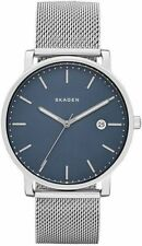 Skagen SKW6327 Men's Hagen Stainless Steel Mesh Band Blue Dial 3-Hand Date Watch