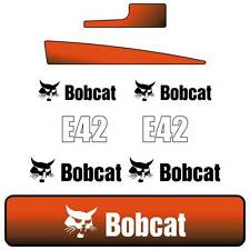 E42 DECALS E42 Stickers Bobcat E42 Decals STICKERs Kit Mini Excavator