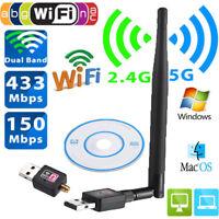 600Mbps Wireless USB WiFi Adapter Dongle Network LAN Card 802.11b/g/n w/ Antenna