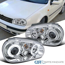 Fit VW 99-06 Golf Mk4 GTI R32 Cabrio Clear Halo Projector Headlights Head Lamps