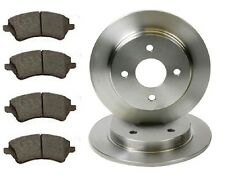 FORD SIERRA  253mm solid  REAR 2 BRAKE DISCS AND 4 PADS SET NEW