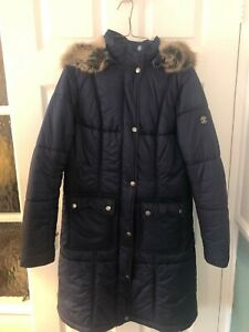 Ladies BARBOUR Navy Puffa Jacket with hood - Size 12