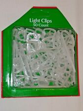 Christmas light Clip Hooks White Plastic 50 count Holiday Style New