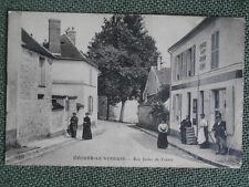 cpa 77 Seine et Marne OZOUER le VOULGIS rue judes de crènes ..années 1910