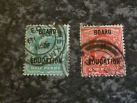 GB GVI POSTAGE & REVENUE STAMPS SG083-4 1902-4 FINE USED