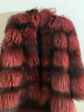 Gorgeous Real Silver Fox Coat Lush Fur Fits Uk10-12 Brand New Never Worn