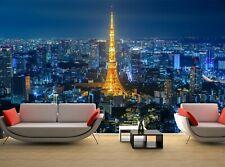 City at Night, Japan   Wall Mural Photo Wallpaper GIANT WALL DECOR Free Glue