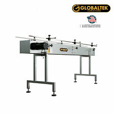 """New! Globaltek S/S 8' x 12"""" Conveyor With Dual Post Welded Base, End Plates"""