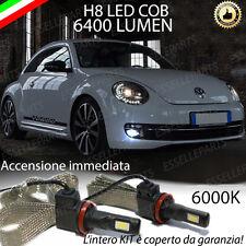 KIT FULL LED VW BEETLE 5C LAMPADE H8 FENDINEBBIA CANBUS 6000K 6400 LUMEN