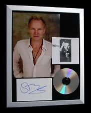STING+POLICE+SIGNED+FRAMED+FIELDS GOLD+ENGLISHMAN=100% GENUINE+FAST GLOBAL SHIP