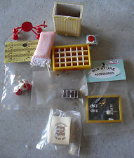 Lot of Vintage Miscellaneous Dollhouse Accessories with Coke Case Most NIP