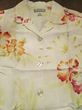 TOMMY BAHAMA CREAM BLOUSE WITH FLORAL PRINT SIZE S (4-6)