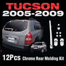 Chrome Rear Molding Kit Garnish Cover B728 For HYUNDAI 2005-2008 2009 Tucson