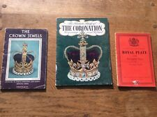 Collection Joblot 3Old Books Royalty Queen Elizabeth ll Crown Jewels Royal Plate