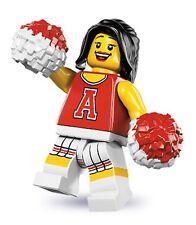 Lego minifig series 8 cheerleader american football player gridiron rugby nrl 10