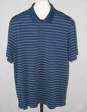 Greg Norman Play Dry Tasso Elba Mens Blue Striped Short Sleeve Polo Shirt Sz XL