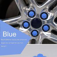 20Pcs New Wheel Nut Bolt Covers Caps Gel  Silicon Caps Dust Cap Protector BLUE