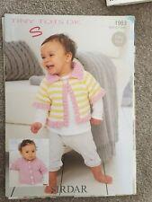 Babys Knitting Pattern Sirdar 1983 Easy Knit Cardigans Birth To 7 Years DK Wool
