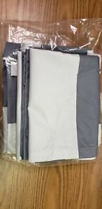 Eclipse Striped Gray/Blue Curtain Pairs