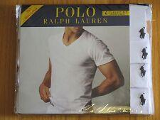 Polo Ralph Lauren Set of 4 Classic Fit Cotton V-Necks T-Shirts Size: Small NIB