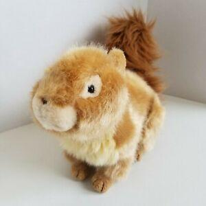 Brown Squirrel Plush Stuffed Animal Toy 12 Inches Long Bushy Tail