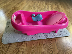 Baby Bath Tub, Mat, and Faucet Cover