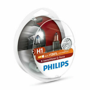 Philips X-Treme Vision G-Force H1 130% Extra Light Bulb Twin Pack NEW IN STOCK