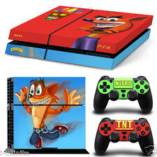 Crash Bandicoot B5205 SKIN PROTECTIVE STICKER for SONY PS4 CONSOLE CONTROLLER