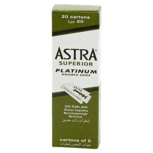 Astra Superior Platinum Double Edge Blades (100)