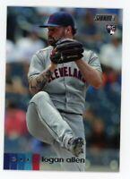 2020 Topps Stadium Club #271 LOGAN ALLEN Cleveland Indians PHOTO Rookie Card RC