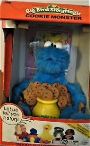 Ideal StoryMagic Talking Big Bird COOKIE MONSTER  Boxed NEW No Cookies book tape