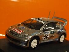 PEUGEOT 206 WRC Marcus Gronholm 2000 rally Sweden  1:43 Scale