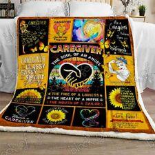 A Caregiver An Angel Sofa Fleece Blanket 50-80