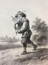 David Teniers le joueur de cornemuse  XVIIIe Lassalle litho de Godard c 1860