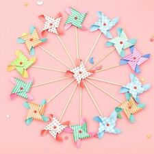 Mini Windmill Cupcake Toppers Picks Party Decorations Evnent Party Favors 6pcs