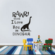 RAWR Means I Love You Dinosaur Wall Sticker Home Decal Art Vinyl Decal Baby Room