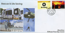 Mauritius 2018 FDC Fire Rescue & Life Saving St John Ambulance 2v Cover Stamps