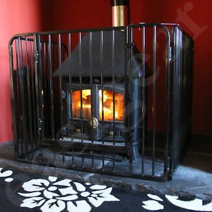 Nursery Fire Guard Safety Child Kid Fireplace Stove Wood Burner Pet Screen Black