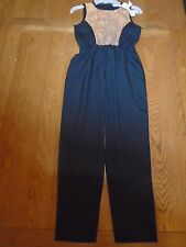 BNWT girls Mini Moi pants suit / playsuit with gold sequins. 7-8years    (1/4)
