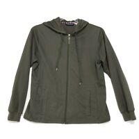 Catalina Full Zip Hoodie Womens Size M Medium Green Long Sleeve Front Pockets