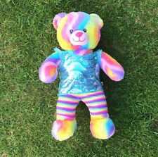 Pre Owned Build A Bear - Rainbow Bear With Outfit