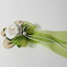 6x Tischgesteck Sisalblüte Kommunion  Hochzeit Taufe  maigrün creme Tischdeko